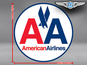 AMERICAN AIRLINES AA OLD EAGLE LOGO ROUND DECAL / STICKER