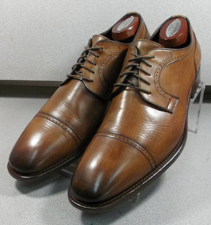 242603 PFi60 Para hombre Zapatos 12 M dark tan Cuero Hecho en Italia Johnston Murphy
