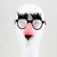 Glasses Mustache Fake Nose Clown Fancy Dress up Costume Props Fun Party Favor UR