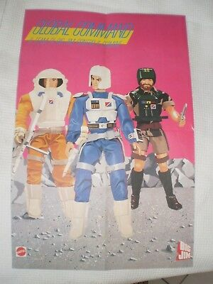 Poster Mini Pubblicitario Advertising Mattel 1985 Global Command + Pubblicita