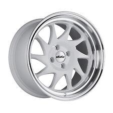 15x8 +20 Whistler KR7 4x100 White Wheel Fits Mirage Xa Xb Jetta Civic Si Eg6 Jdm
