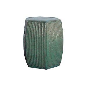 Cool Details About Chinese Hexagon Bamboo Theme Turquoise Green Ceramic Clay Garden Stool Cs4220 Inzonedesignstudio Interior Chair Design Inzonedesignstudiocom