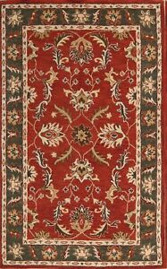 Hand-tufted Classic All-Over Red 8x11 Oushak Agra Oriental Area Rug Wool Carpet