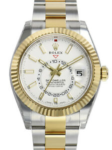 Rolex-Sky-Dweller-326933-Two-Tone-Steel-amp-Yellow-Gold-White-Index-Dial-42mm