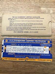 Details About Vintage Slide Rule Calculator General Electric G E Fluorescent Lighting F2