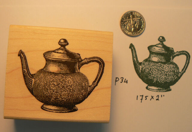 P34 Victorian Teapot nr.2 Rubber stamp WM
