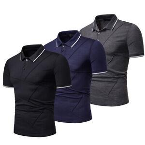Men-039-s-Slim-Fit-Shirts-Short-Sleeve-Casual-Golf-T-Shirt-Jersey-Tops-Tee