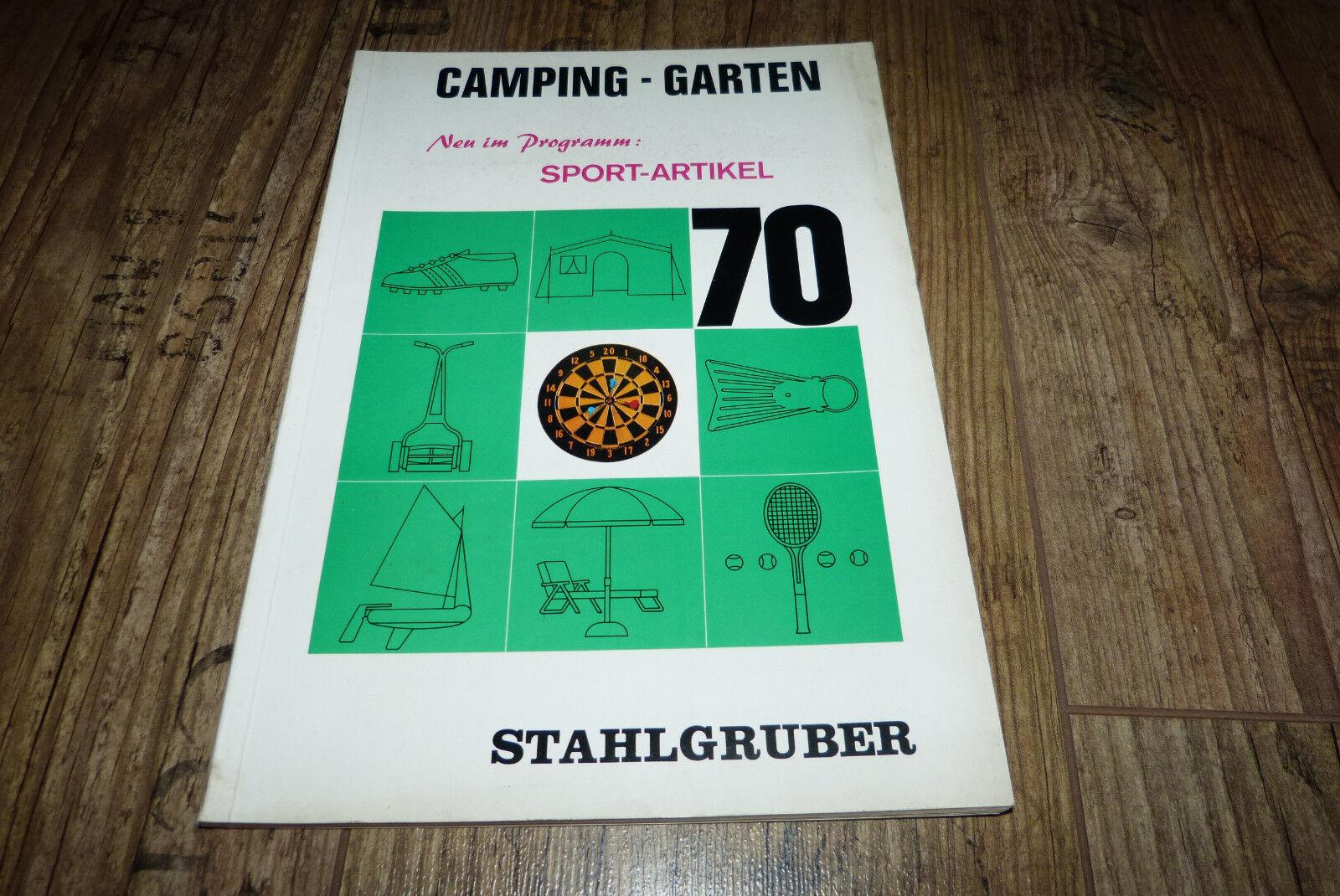 Camping Garten Sport Artikel  Katalog 1970 Zelte,Stiefele,Rasenmäher  usw