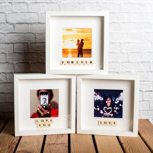 Choisissez Votre Texte grande idée cadeau Personnalisé St-Valentin Scrabble cadre photo