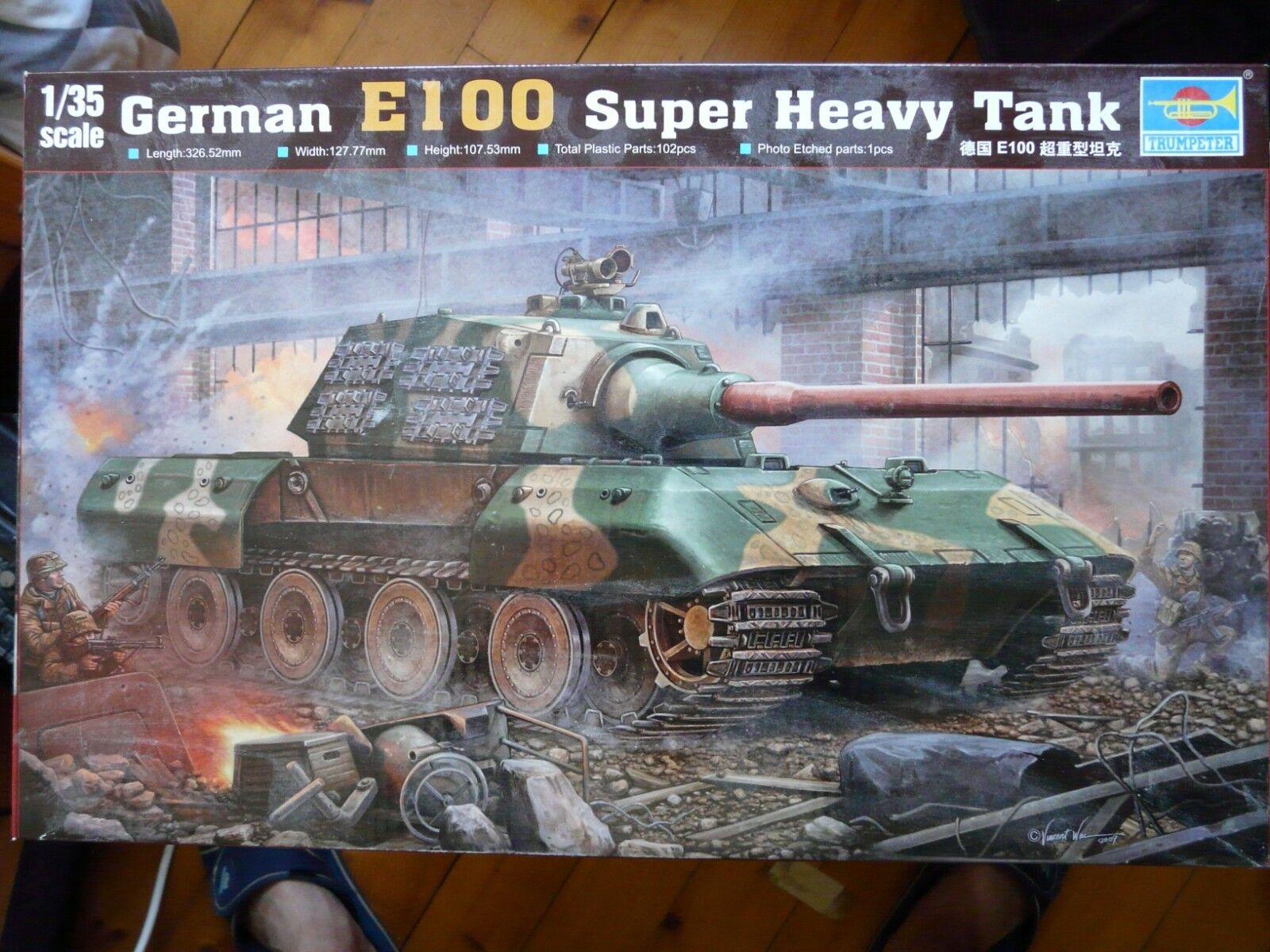 Maquette WWII 1 35 TRUMPETER Ref 384 German Entwicklungsfahrzeug E 100 Super H