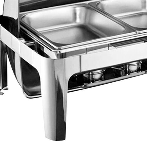 Speisenwärmer Chafing Dish Warmhaltebehälter Klappdeckel 9L Wärmebehälter Rechau