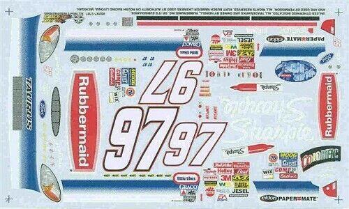 Slixx 1787 #97 Rubbermaid 2002-Kurt Busch Nascar decal