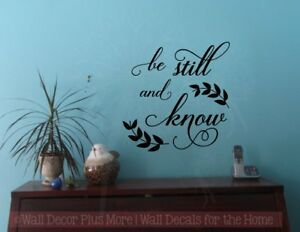 Be-Still-And-Know-Religious-Bible-Wall-Stickers-Quote-Vinyl-Lettering-Art-Decal