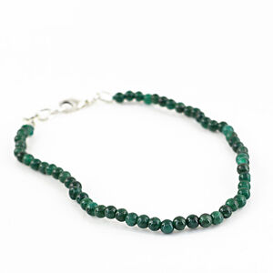 BEAUTIFUL 31.50 CTS EARTH MINED RICH GREEN EMERALD ROUND SHAPED BEADS BRACELET