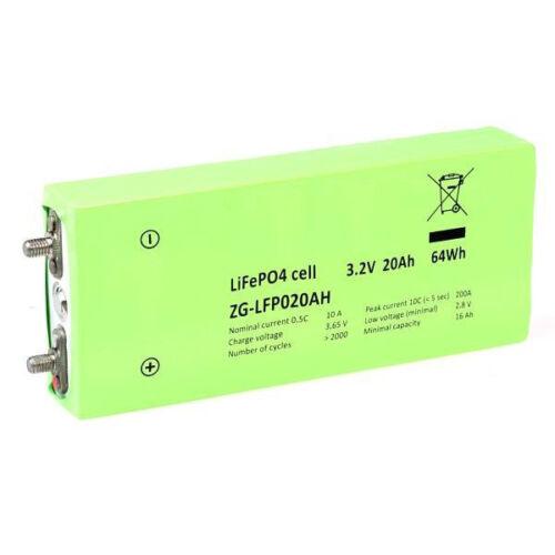 LiFePO4 Zelle ZG NewEnergy LFP 3,2V 20Ah 64Wh LiFePO  E-Bike geeignet
