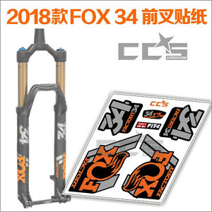 Image Is Loading New 2018 FOX 34 Fork Stickers Pack Decals