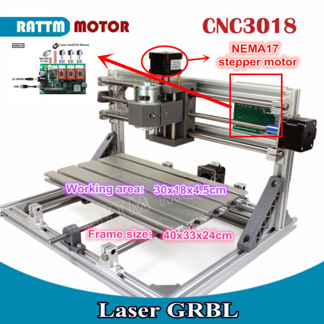 Diy Mini Laser Machine Grbl Control Cnc Engraving Milling Router Kit