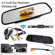 "Wireless Infrared Car License Plate Reversing Camera 4.3"" LCD Display Screen Kit"