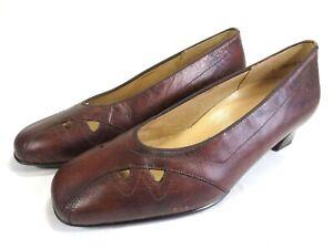 pretty nice 486eb eff36 Details zu THERESIA MUCK Komfort bequeme Pumps Leder Schuhe Gr. 38 weit UK  5 H NEU 99,95