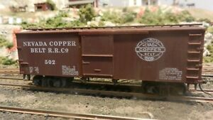 Roundhouse-MDC-HO-Old-Time-36-039-Boxcar-Nevada-Copper-Belt-Upgraded-Exc