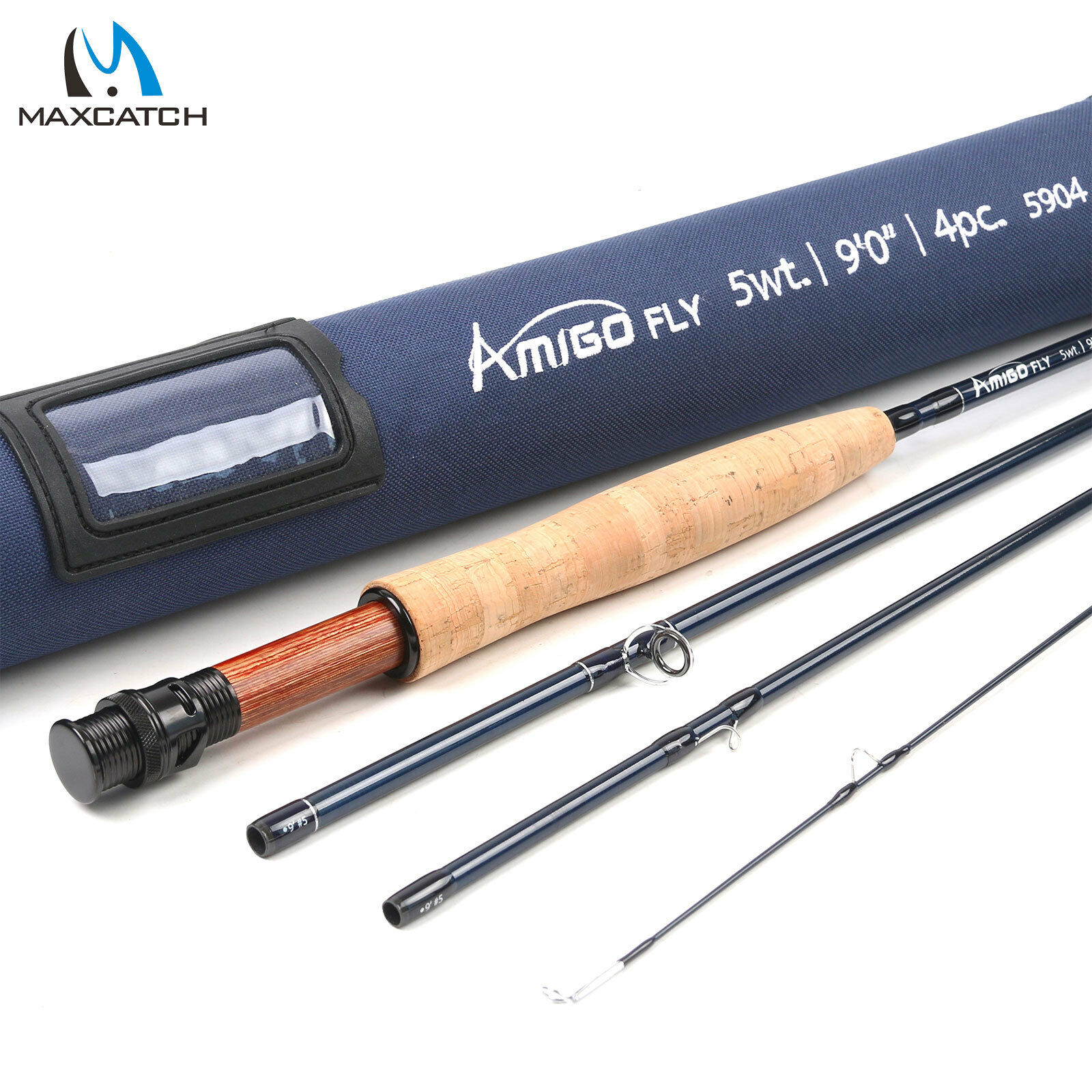 Maxcatch Amigo Fly Rod 4 5 6 7 8wt 9ft Fast Action IM10 Carbon Fiber Fishing Rod