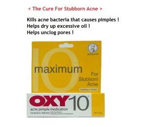 2 Piezas Oxy 10 Fuerza Maxima Espinillas Del Acne Crema 10 De Peroxido De Benzoilo 25g Ebay