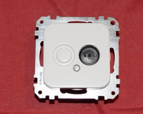 Merten system Base Haut-parleurs Prises empiècement 294919 Polarweiß BO