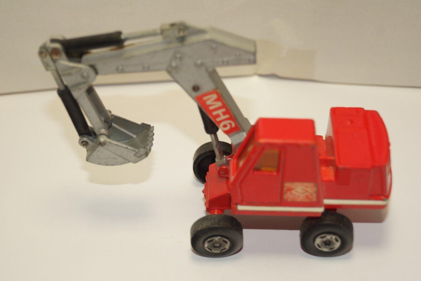 ORIGINAL MatchBox - KINGGröße - No K1 - Hydraulic Excavator - rot Farbe