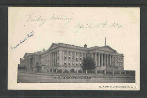 1904-TREASURY-BUILDING-WASHINGTON-DC-UDB-UNDIVIDED-BACK-POSTCARD