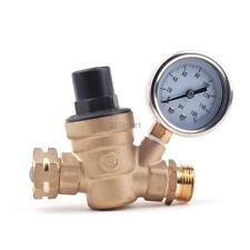 "Brass Lead-free Adjustable Water Pressure Regulator Reducer NPT NPT 3/4"" 160 PSI"