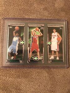 2003-04-Topps-Matrix-Carmelo-Anthony-RC-Chris-Kaman-Darko-Milicic-Rookie