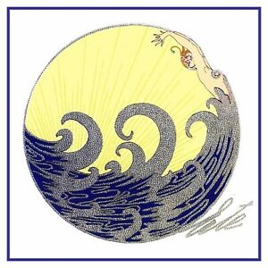 The-Wave-by-ERTE-Romain-de-Tirtoff-Counted-Cross-Stitch-Pattern-Chart-Pattern