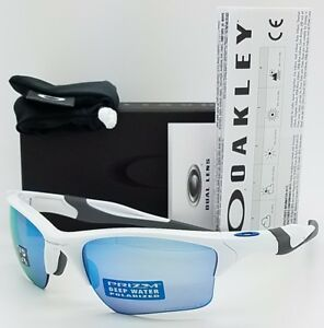 NEW-Oakley-Half-Jacket-2-0-XL-sunglasses-White-Prizm-Deep-H2O-Polarized-9154-58