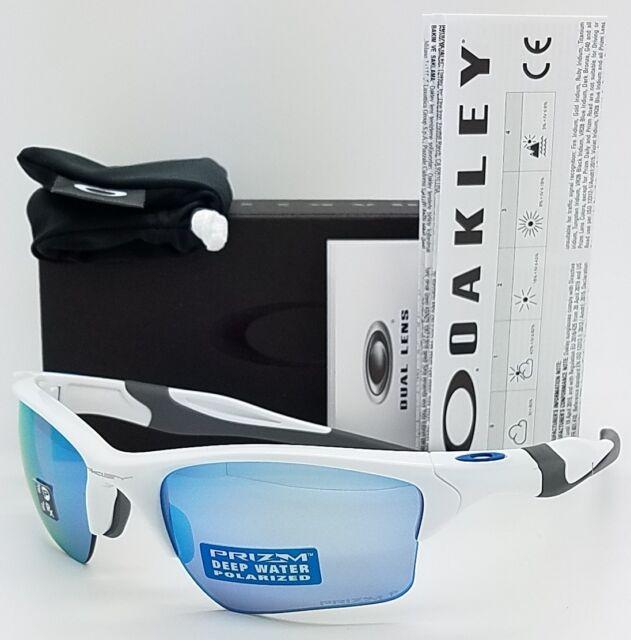 5dbf78cd47ae NEW Oakley Half Jacket 2.0 XL sunglasses White Prizm Deep H2O Polarized  9154-58