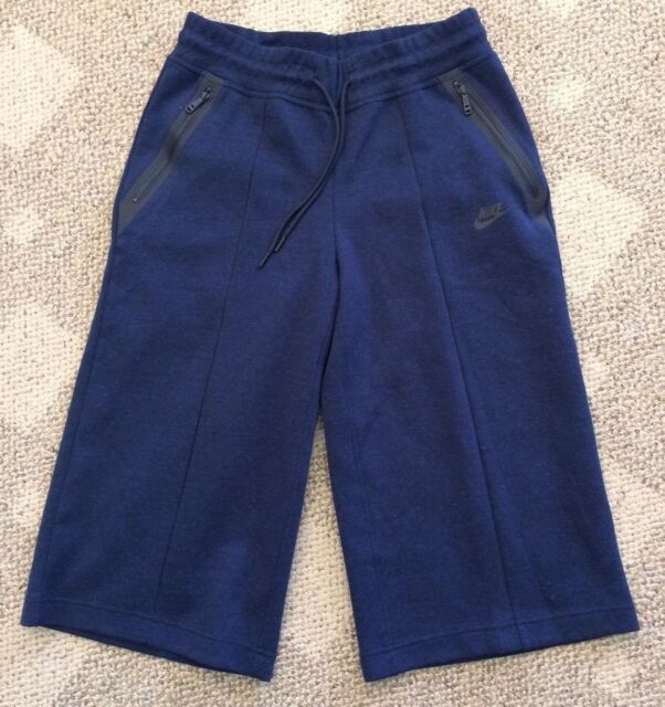 cheaper e1302 1112c Size Medium M Nike Sportswear Tech Fleece Womens Capris Crop Pants Athletic  Blue