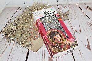 Vintage Christmas Tree Silver Tinsel Garland Metallic ...