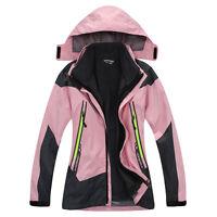 Kids Boys Girls 3in1 Fleece Lined Outdoor Jacket Waterproof Ski Hiking Warm Coat