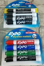 Lot Of 2 New 4 Pack Amp A 6 Pack Of Expo Dry Erase Markers Chisel Tip Low Odor