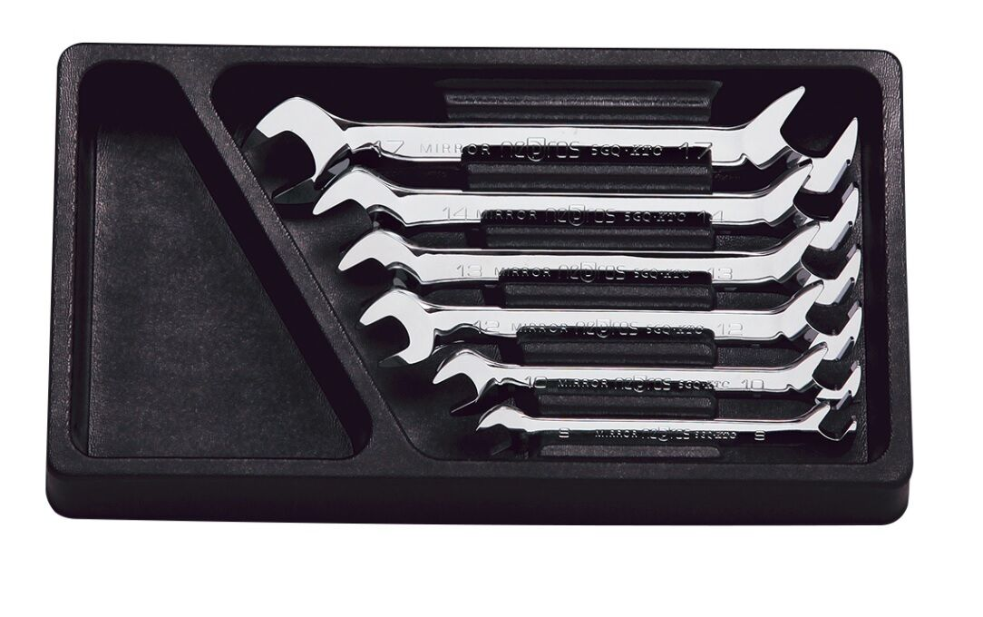 KTC-NEPROS   ANGLE HEAD OPEN END WRENCH SET (6PCS)   NTS306   MADE IN JAPAN