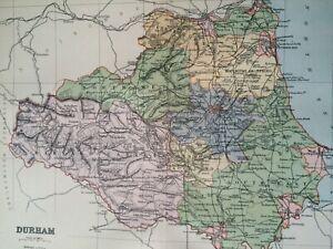 Map Of England Vintage.1895 Durham Original Antique Map Uk England Vintage Old County Ebay