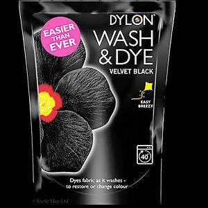 DYLON-350g-WASH-amp-DYE-Large-VELVET-BLACK-Machine-Wash-Clothes-Fabric-Dye