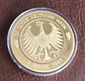 Gigant XXL Medaille Münze 5 DM 1958 J Deutschland 110g ...