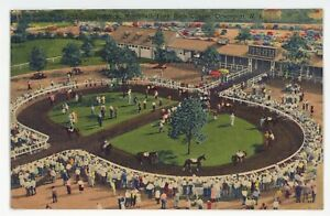 Horse-Racing-Monmouth-Park-Racetrack-OCEANPORT-NJ-New-Jersey-Postcard