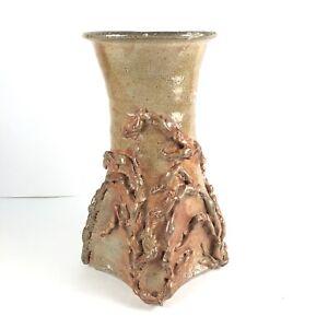 Mid Century Brutalist California Studio Ceramic Pottery Sculpture Vase Vessel