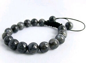 Image Is Loading Men 039 S Shamballa Bracelet All 10mm Black