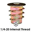 E-Z LOK 1/4-20 Flanged Die Cast Zinc Hex-Drive Threaded Insert for Wood (50 Pcs)