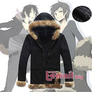 Durarara-Izaya-Orihara-Black-Coat-Jacket-Sweatshirts-Tops-Cosplay-Costume-Unisex
