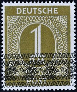 Germany-1948-1-RM-Michel-A-IX-II-Bandaufdruck-MNH-SIGNED