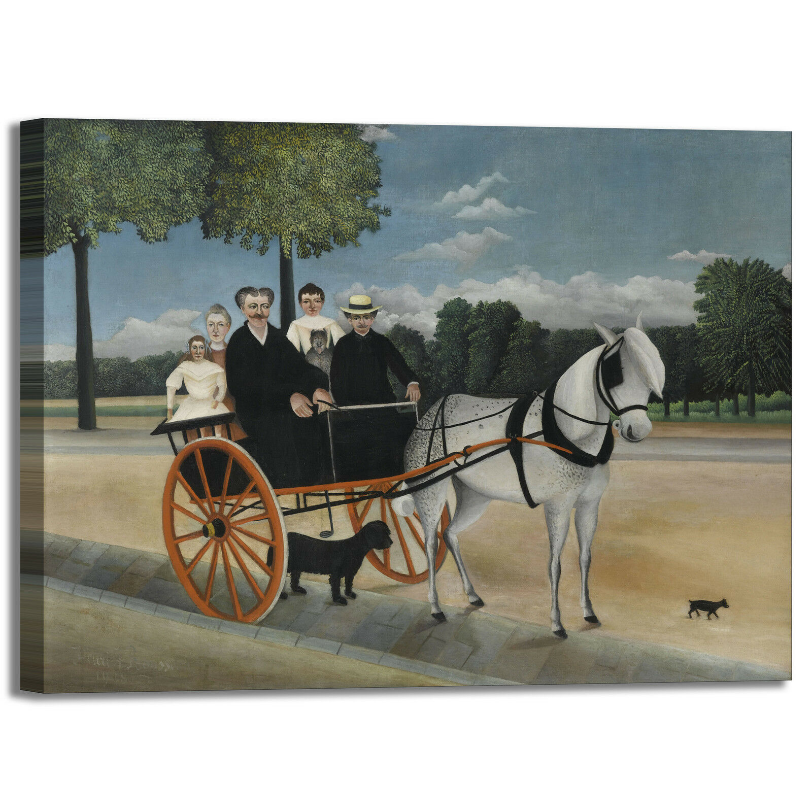 Rousseau calesse dipinto di Junier design quadro stampa tela dipinto calesse telaio arRouge o casa c6df90