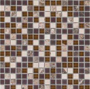 Das Bild Wird Geladen Naturstein Glasmosaik Marmor Beige Braun Wand Bad  Fliesenspiegel